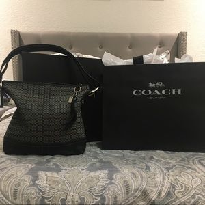 "Coach Bucket Hobo Small ""C"" Signature Shoulder Bag"